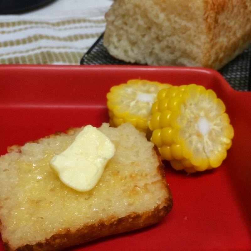 小麦アレ】レンジ&タッパーde米粉の食パン♡