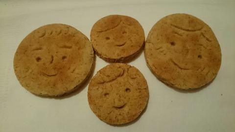 ピースの1歳の誕生にフタバからいただいた可愛メープルクッキー
