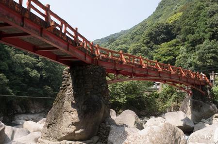 橋を見上げる