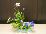 夏の多種挿し−写景盛花様式本位