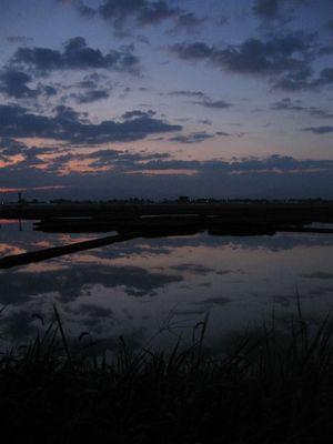 9月6日 5時42分 月夜の朝陽