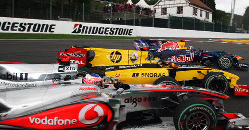 バトン、クビサ、ヴェッテル、F1ベルギーGP