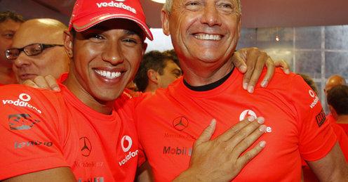 ルイス・ハミルトン、ロン・デニス、F1ベルギーGP