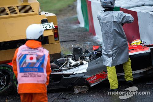 ジュール・ビアンキ、クラッシュ、2014年F1日本GP 鈴鹿、事故、意識不明