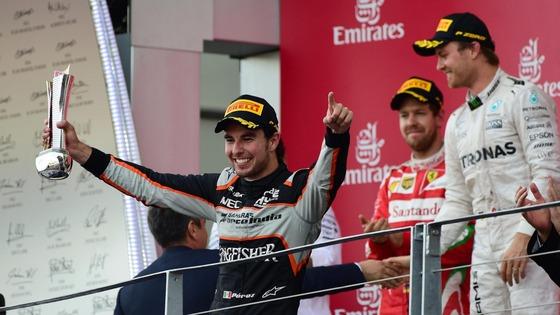 セルジオ・ペレス3位、ニコ・ロズベルグ優勝、セバスチャン・ベッテル2位、F1ヨーロッパGP
