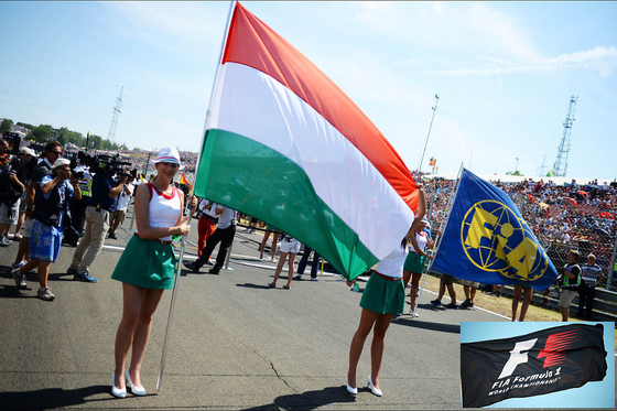 ハンガリー国旗、FIA旗、F1旗