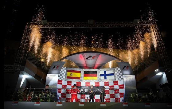 2013年F1シンガポールGP表彰式