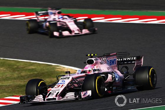 エステバン・オコンとセルジオ・ペレス(フォース・インディア):2017年F1日本GP