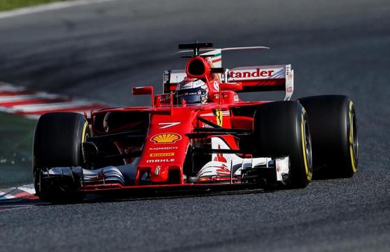 <br> キミ・ライコネン(フェラーリ)バルセロナF1テスト2017年3月