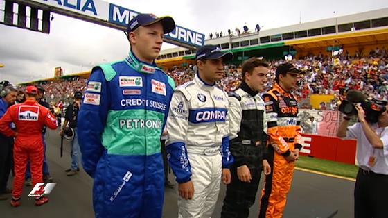 2001年F1デビュー・ドライバー: キミ・ライコネン(ザウバー 21歳)、ファン・パブロ・モントーヤ(ウィリアムズ 25歳)、フェルナンド・アロンソ(ミナルディ 19歳)、エンリケ・ベルノルディ(アロウズ 22歳) - 2001年F1オーストラリアGP