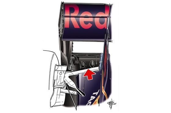 レッドブルRB13:リア・フロアの「涙」 - 2017年F1日本GP