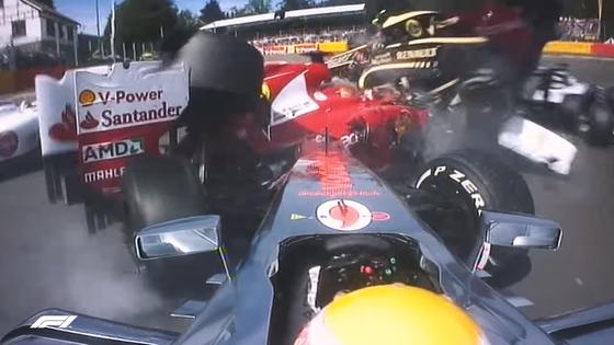 2012年F1ベルギーGP オープニングラップでのクラッシュ