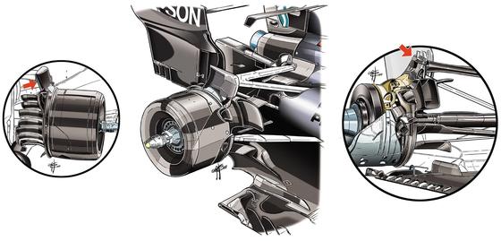 メルセデスF1 W09:リア・サスペンション