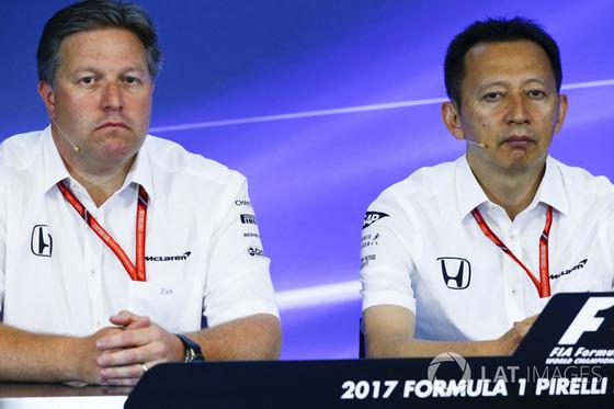 ザク・ブラウン(マクラーレン)、長谷川祐介(ホンダF1プロジェクト総責任者):2017年F1ベルギーGP