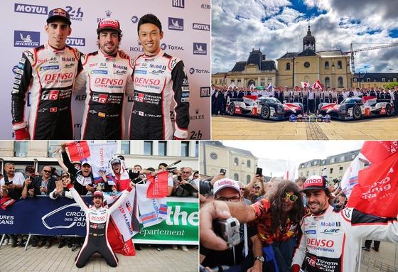 フェルナンド・アロンソ、中嶋 一貴、セバスチャン・ブエミ(トヨタ・チーム):ル・マン24時間レース(2018年WEC第2戦)