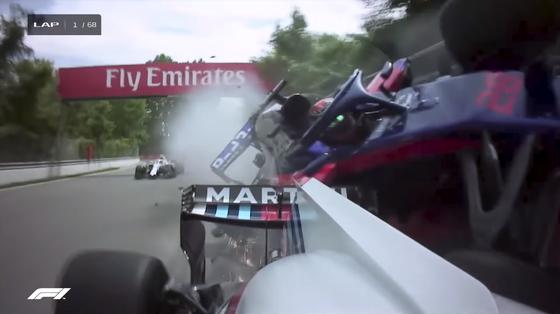 ブレンドン・ハートレイとランス・ストロールがクラッシュ:2018年F1カナダGP