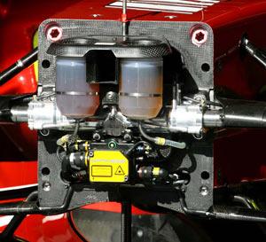 フェラーリF2008、ノーズコーン、マスターシリンダー、ステアリング・ラック
