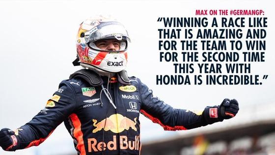 マックス・フェルスタッペン(レッドブル・ホンダ)2019年F1ドイツGP