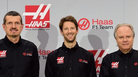 ギュンター・シュタイナー、ロマン・グロージャン、ジーン・ハース(ハースF1チーム)