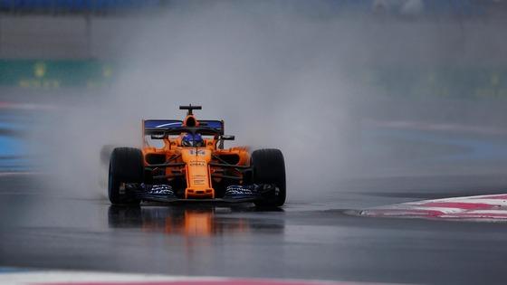 フェルナンド・アロンソ(マクラーレン)2018年F1フランスGPフリー走行3回目