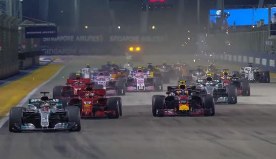 2018年F1シンガポールGPスタート