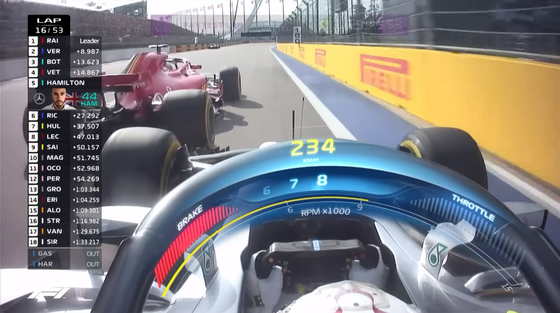 ベッテルが2度動いてハミルトンが追突しそうになる:2018年F1ロシアGP