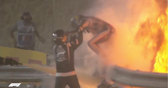 ロマン・グロージャン、炎から脱出:2020年F1バーレーンGP