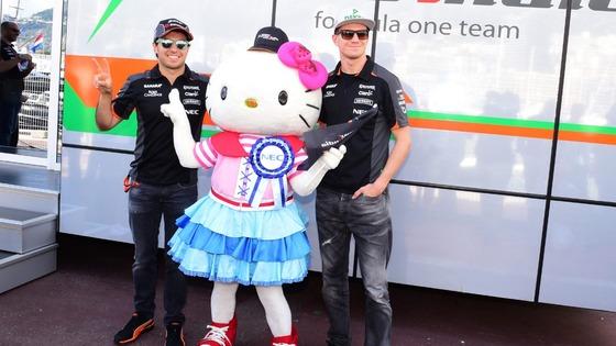 セルジオ・ペレスとニコ・ヒュルケンベルグ(フォース・インディア)、2016年F1日本GP