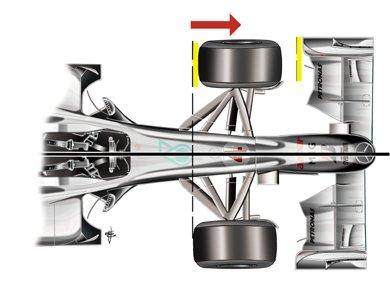 メルセデスGP MGP W01: ホイールベースの延長