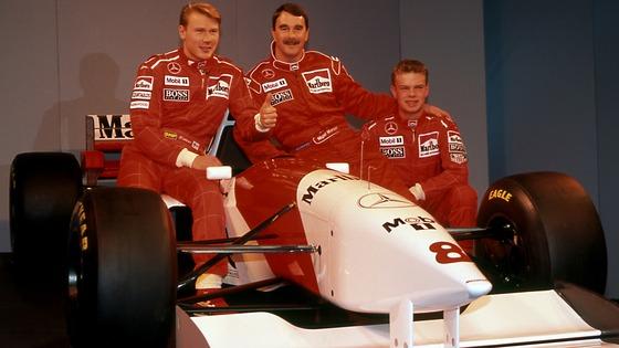 ミカ・ハッキネン、ナイジェル・マンセル、ヤン・マグヌッセン(マクラーレン、1995年)