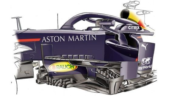 レッドブルは、新しいバージボードをシンガポールで短時間テストしたあとロシアのレースで使った