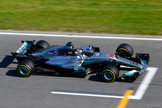 ヴァルテリ・ボタス(メルセデス)バルセロナF1テスト2017年3月7日
