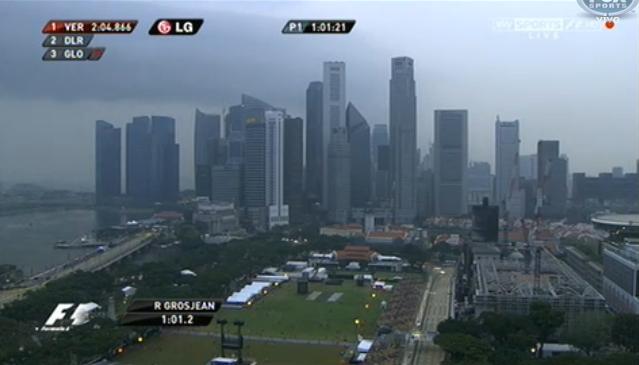 シンガポール市街地コース フェルナンド・アロンソ ジェンソン・バトン  F1シンガポールGP金曜