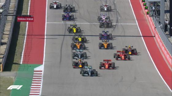 2019年F1アメリカGPスタート