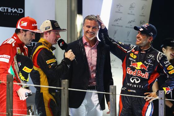 フェルナンド・アロンソ、キミ・ライコネン、デイヴィッド・クルサード、セバスチャン・ベッテル、2012年F1アブダビGP
