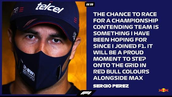 セルジオ・ペレスのコメント:2021年はレッドブル
