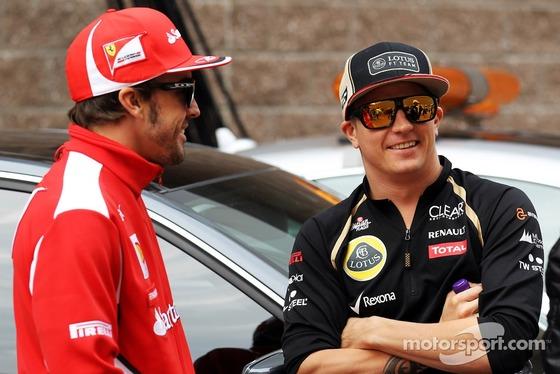 フェルナンド・アロンソ、キミ・ライコネン、2012年F1韓国GP