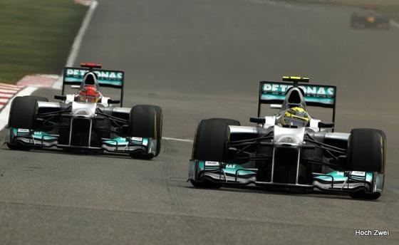ニコ・ロズベルグ、ミハエル・シューマッハ、2012年F1中国GP