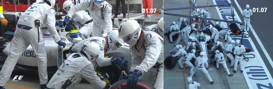 ウィリアムズのピットストップ: 2016年F1ロシアGP