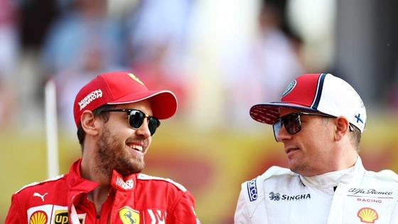 セバスチャン・ベッテル(フェラーリ)とキミ・ライコネン(アルファロメオ):2019年F1アブダビGP