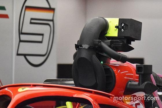 フェラーリの車載カメラを妨害する冷却装置