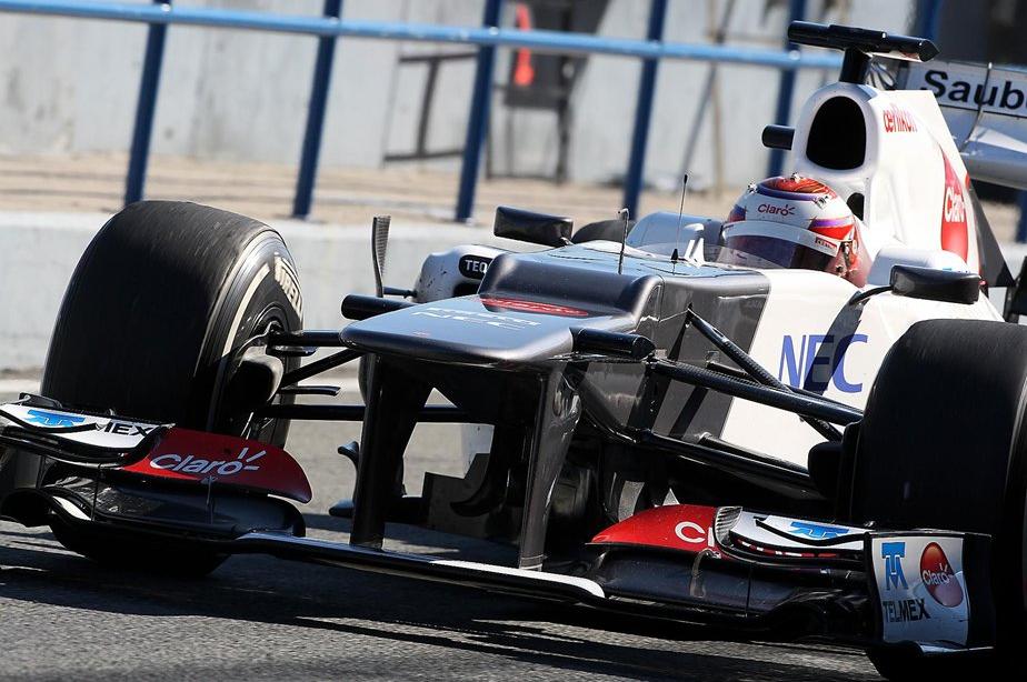 F1へレス合同テスト 走行写真 2: 2012年2月7日