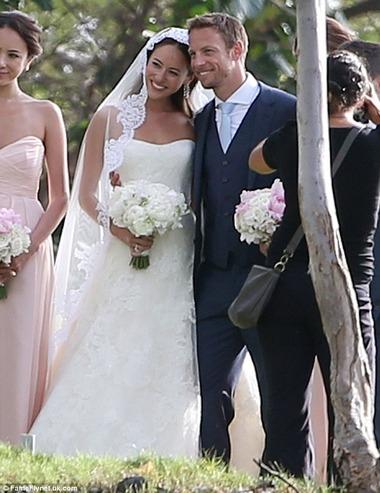道端ジェシカとジェンソン・バトンの結婚式、ハワイ