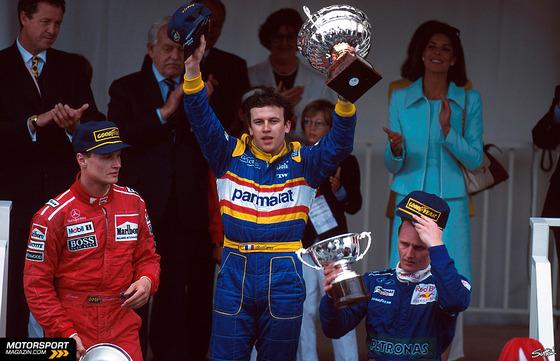 1996年F1モナコGP、デイヴィッド・クルサード、オリビエ・パニス、ジョニー・ハーバート