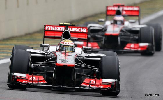 ルイス・ハミルトン、ジェンソン・バトン、2012年F1ブラジルGP