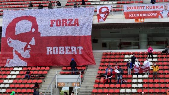 ロバート・クビサ(ウィリアムズ)の応援旗
