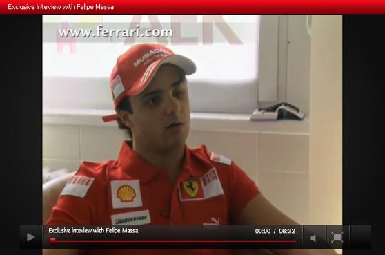 マッサ、フェラーリ公式サイト・インタビュー