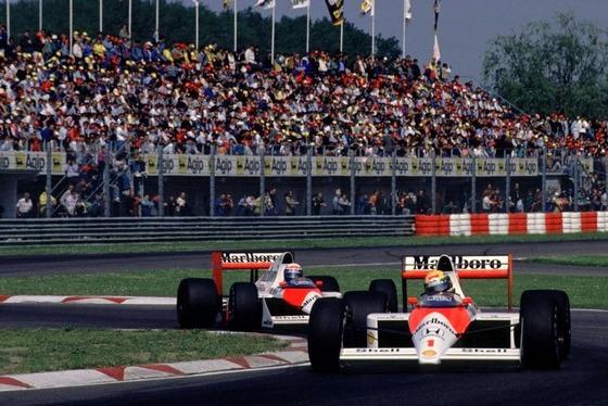 アイルトン・セナ、アラン・プロスト(マクラーレン・ホンダ)、1989年F1サンマリノGP