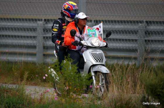ウェバーのマシン炎上、2013年F1韓国GP