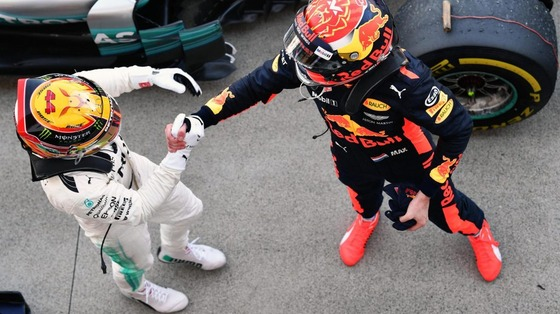 ルイス・ハミルトンとマックス・フェルスタッペン:2017年F1日本GP